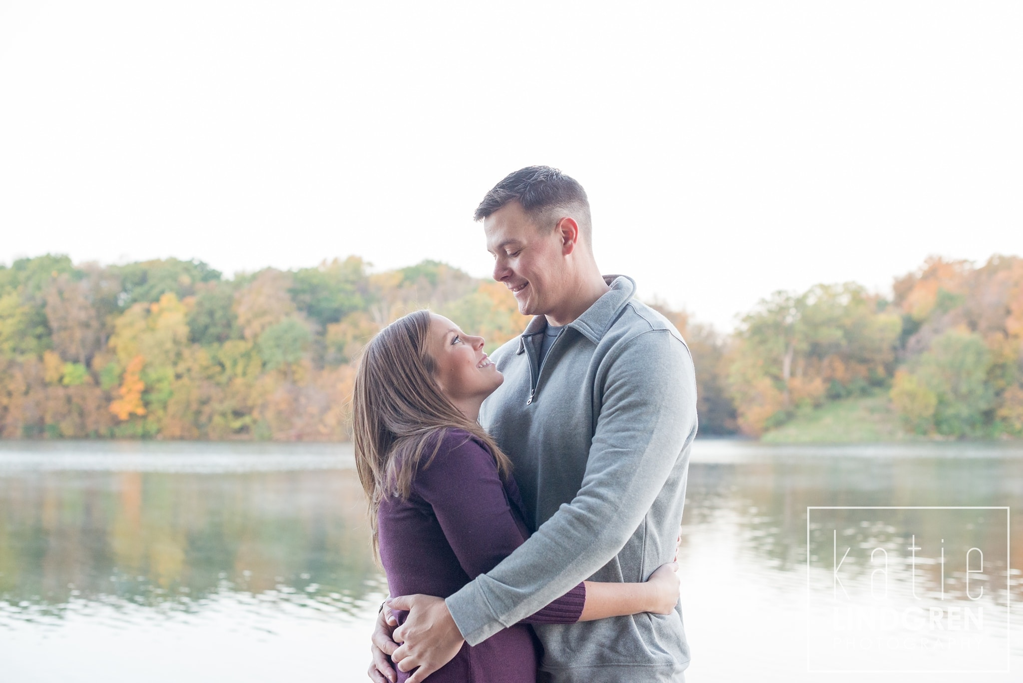 Saylorville Sunrise Engagement Photos
