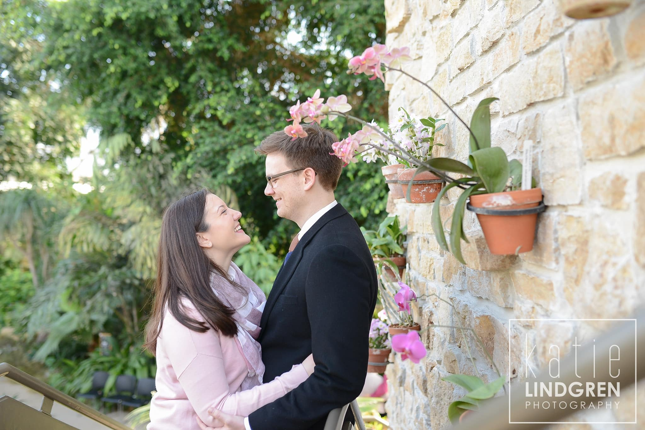 Des Moines Botanical Center Engagement Photos